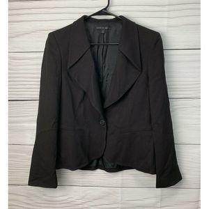 Lafayette Blazer Jacket Black Single Button 10